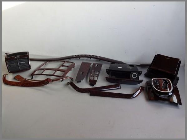 Mercedes Benz MB W220 shift console frame wood decor SET 13 parts backdrop WOOD