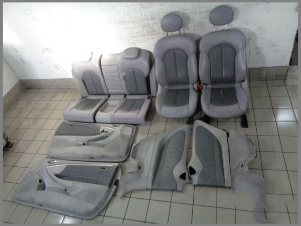 Mercedes Benz MB W209 CLK Leder Sitze Lederausstattung GRAU komplett Set