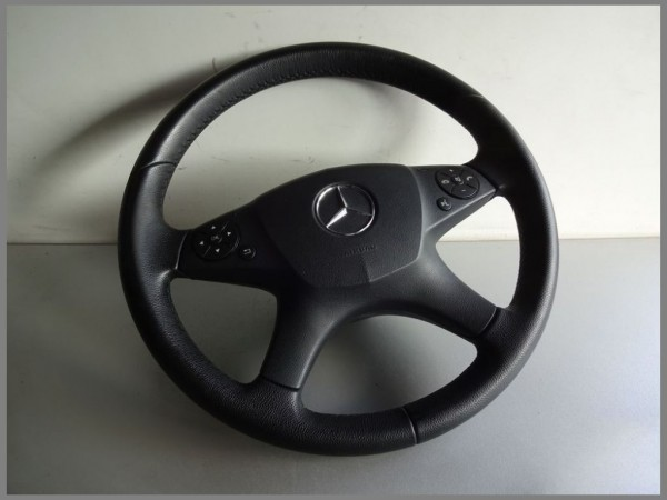 Mercedes Benz W204 steering wheel 2044600303 9E84 Black leather complete L20