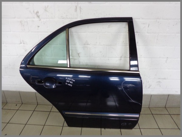Mercedes Benz W210 Limousine Facelift door rear right 359 Tansanitblue K1003