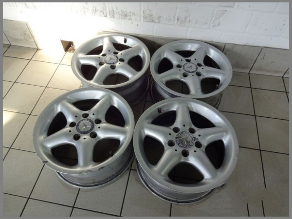 Mercedes Benz W209 W203 Alloy Wheels 7x15 ET37 Original B66470504 SET