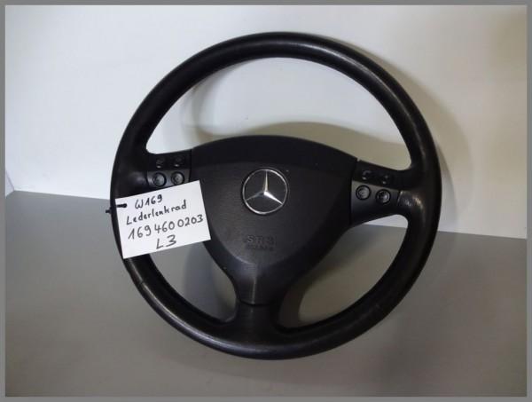 Mercedes W169 Lenkrad Airbaglenkrad Lederlenkrad Multifunktion 1694600203 L3