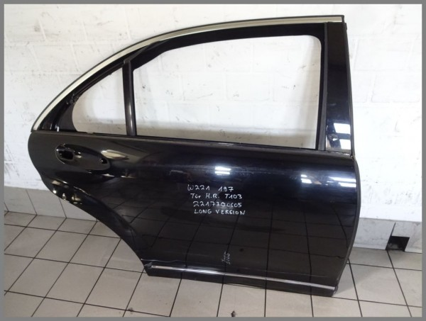 Mercedes W221 Tür hinten Rechts 197 Schwarz Original T103 2217300605 LANG