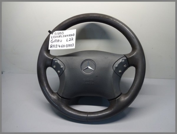Mercedes Benz MB W203 C-Class steering wheel leather GRAY 2034600903 L22