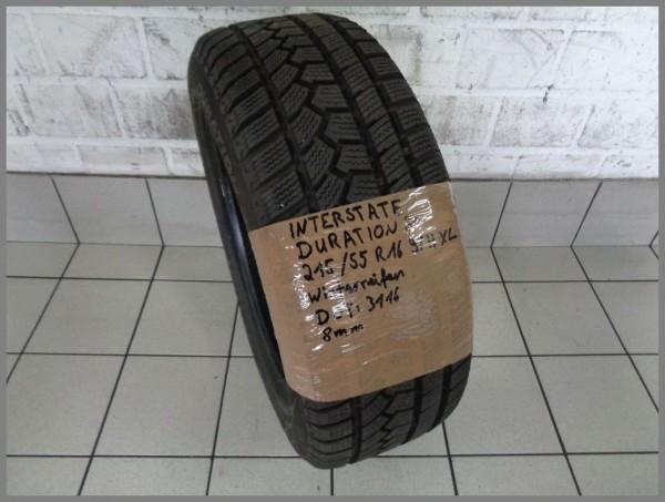 1x Interstate 215 55 R16 97H XL Duration 30 DOT3116 8mm winter tire