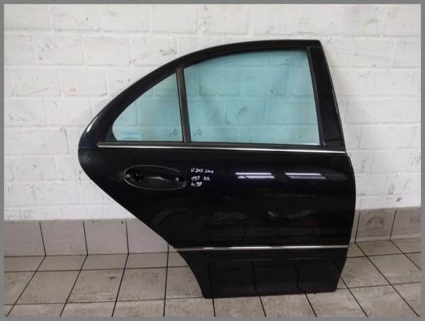 Mercedes Benz MB W203 Rear Right Door 197 Black Sedan 2037300805 K99