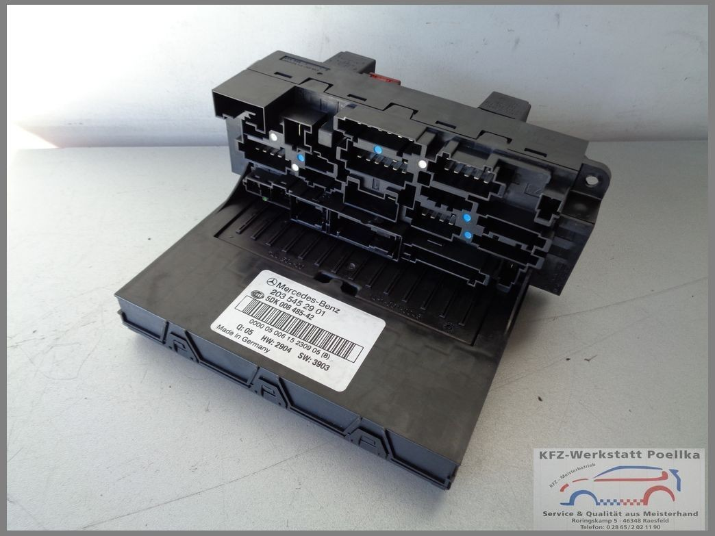 Mercedes Benz W203 Control Unit Sam 2035452901 Fuse Box 5dk 008485 42 C Class Spare Parts