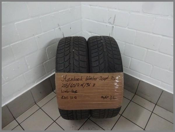 2x Hankook 205 60 R16 96H Winter icept RS DOT3312 3,5mm Winterreifen