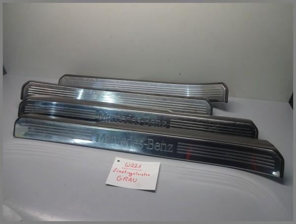 Mercedes Benz W221 S-Class door sill strips SET 4 pieces GRAY 2216800135