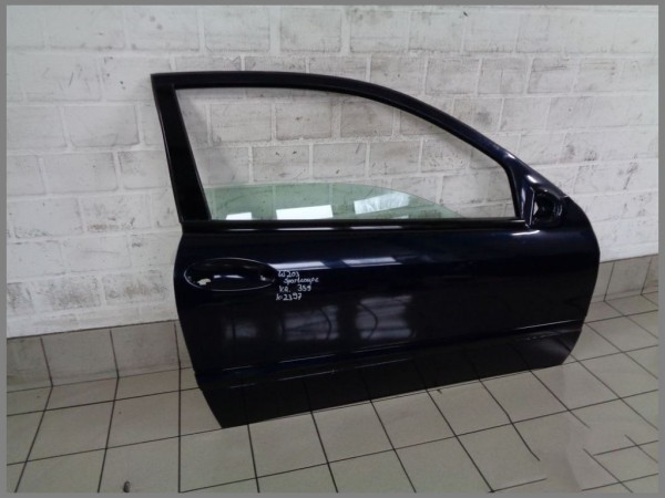 Mercedes Benz w203 C-Class Sport Coupe Door Right 359 Tanzanite Blue K2397 Orginal