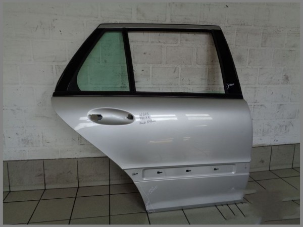 Mercedes Benz MB W203 S203 Kombi Tür Hinten RECHTS 744 Silber Original K1886