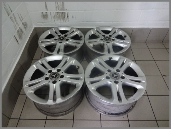 Mercedes W211 aluminum rims 7.5x16 ET42 7.5 x 16 rims original 2114017102 B640