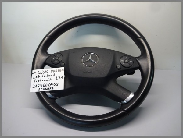 Mercedes Benz W212 VORMOPF Lederlenkrad Tiptronik Schwarz 2124600403 L31 Orig.