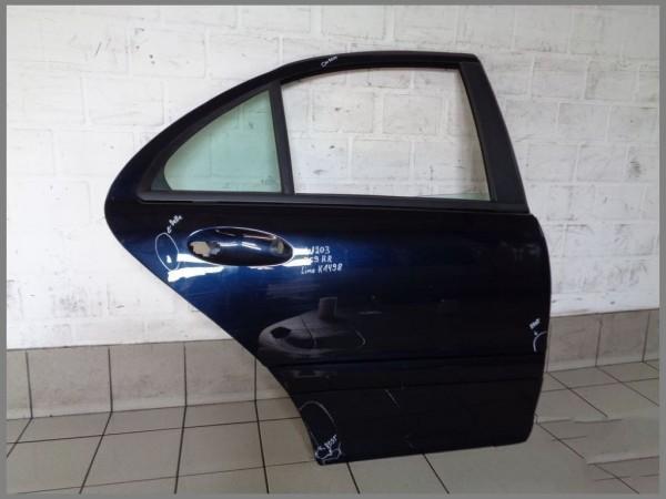 ORGINAL Mercedes Benz MB W203 LIMO door rear right 359 BLUE K1498
