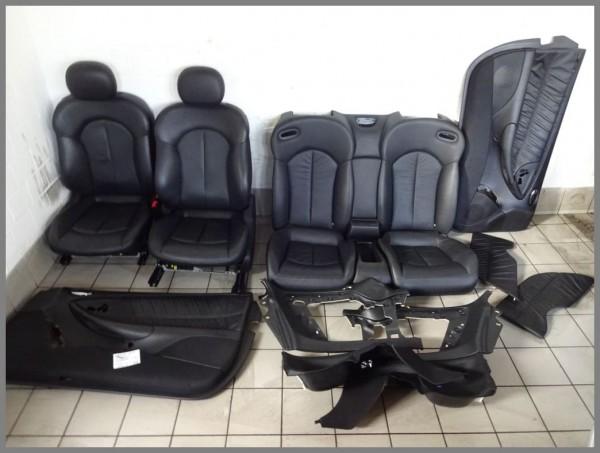 Mercedes W209 CLK Cabrio Leder Sitze Lederausstattung Schwarz komplett RHD