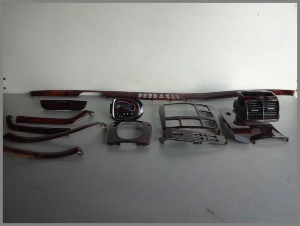 Mercedes Benz W220 Schaltkonsole Rahmen Holzdecor SET 13 Teile Kulisse HOLZ
