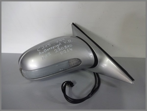 Mercedes Benz W215 exterior mirror right electric 744 Silver 2208100264 original A12