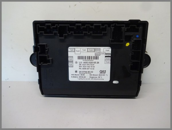 Mercedes Benz W221 S-Class door control unit rear LEFT 0038206526