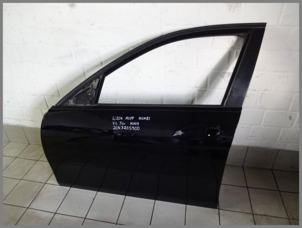 Mercedes Benz W204 Estate Door Front Left 040 Black 2047205900 K109 MOPF
