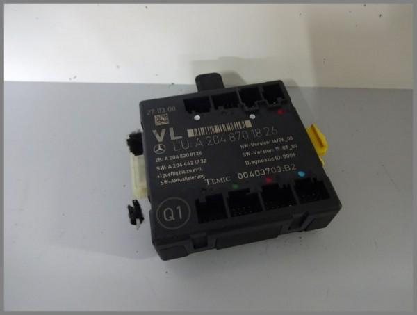 Mercedes Benz MB W204 C-Class door control unit front LEFT control unit 2048701826