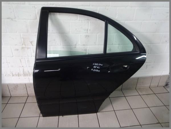 Mercedes Benz W203 Tür Hinten Links 197 Schwarz Limousine 2037300705 K20900 Orig.